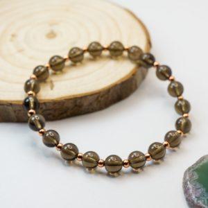 Smoky Quartz Crystal Bracelet